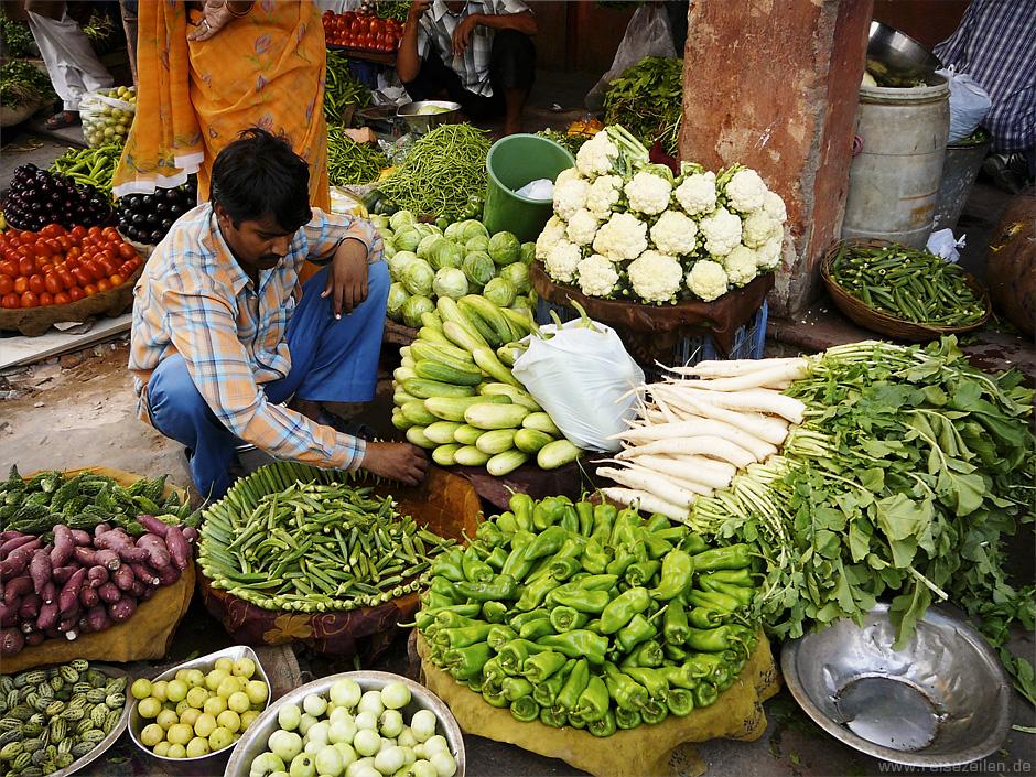 Indien - Reisetipps - Reisen - Rajasthan - Markt in Jaipur
