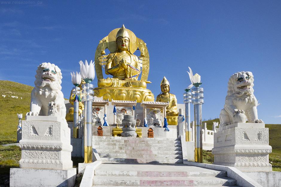 Reisetipps Bilder Mongolei Goldener Buddha
