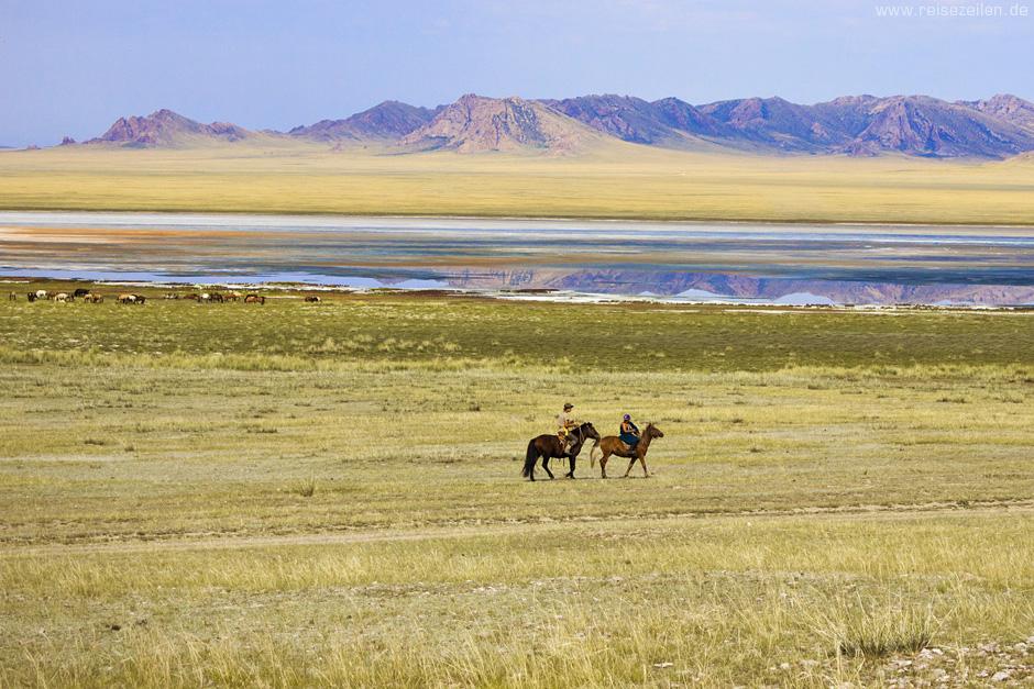 Mongolei Reisen Reiseland Reisetipps Zwei Reiter