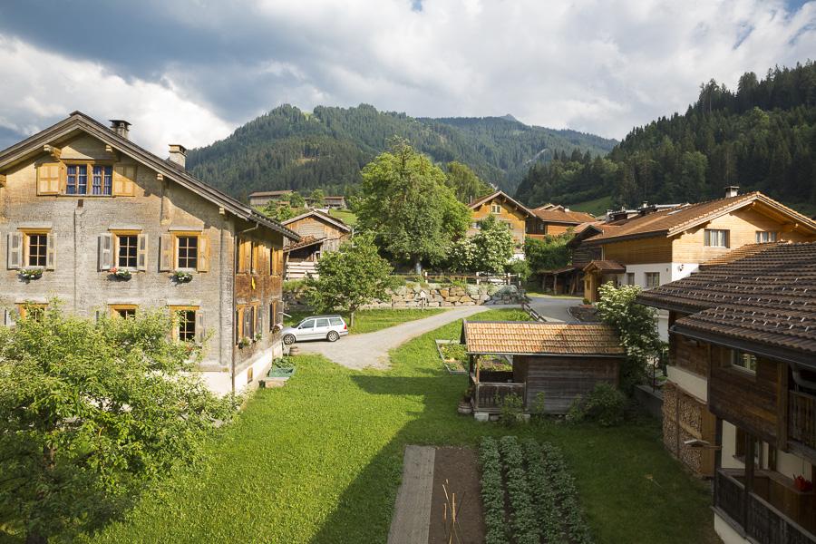 Hoteltipi Graubünden Schweiz Türmlihus Fideris - ehemaliger Kurort in Graubünden