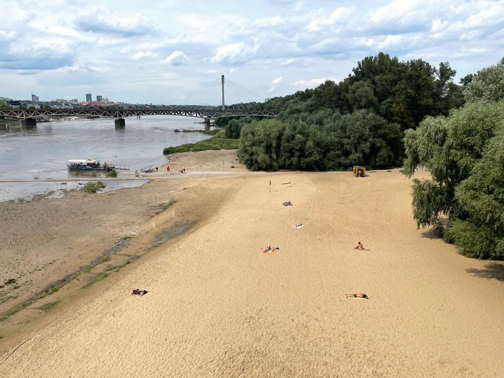 Warschau Sehenswürdigkeiten - Poniatówka Strand
